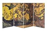 Paravento figura 480 pezzo cipresso 2301-01 Art stare Puzzles schermo pieghevole (21 x 11,2 centimetri x 4 set) (japan import)