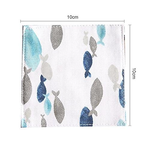Coasters De Tissu Japonais/ Manique/Table De La Cuisine/Tapis Anti-dérapant/ Sous-verres Coton Créatif/Bowl Mat-A 10x10cm(4x4inch)