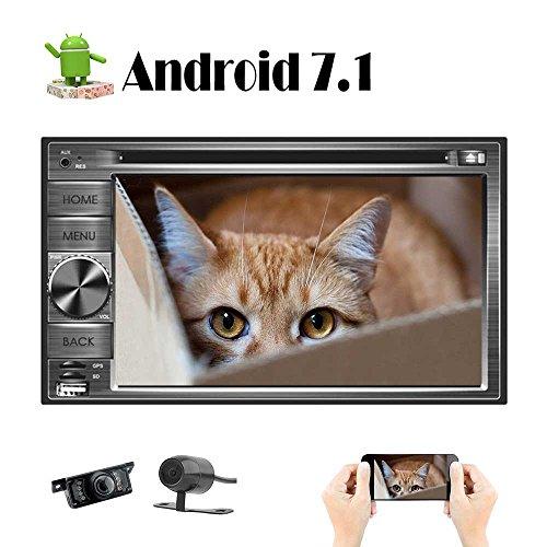 EINCAR Octa-Core Android 7.1 DVD Autoradio mit Bluetooth und Navigation für Universal-Auto GPS-Navi 6.2 Zoll Full Touch Screen Doppel-DIN-Head Unit mit kostenloser Front & Backup-Kamera Universal-trigger-modul