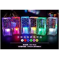SQDTNSLT-barre di carica della lampada sul comodino cristallo luce da notte led innovazione lampada da tavolo, romantica camera da letto sala da pranzo lampada da tavolo,lenti colorate