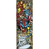 Pyramid International - Póster vertical para la puerta, diseño de héroes de los cómics de Marvel
