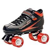 Roller Derby Rollschuhe Viper M4 Men's Speed Quad Skate, Schwarz/Rot, 45 (US 12), U 724 M