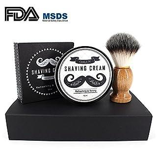 Shaving Cream Set, Leegoal Premium Shave Cream with Brush for Men Fit Dry and Sensitive Skin, Non-Irritating Shaving Cream, Natural Ingredients (100ml)