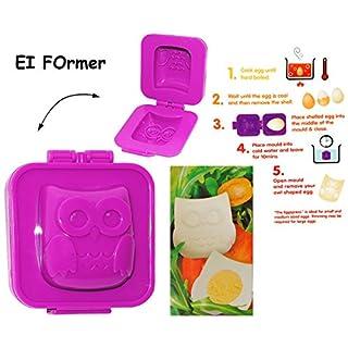 alles-meine.de GmbH Eierformer / Butterformer -  lustige 3-D Eule  - auch zum Dekorieren geeignet - Eier / Eierform - Figuren - Former - Butterform - Deko / Kuchen Backen Kinde..