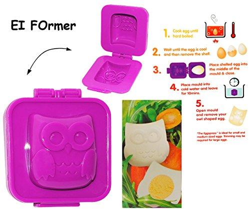 alles-meine.de GmbH Eierformer / Butterformer -  lustige 3-D Eule  - auch zum Dekorieren geeignet - Eier / Eierform - Figuren - Former - Butterform - Deko / Kuchen Backen Kinde.. -