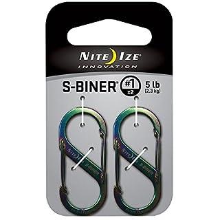 NITE IZE S-BINER SIZE #1 2PK SPECTRUM