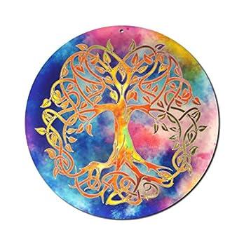 """Sonnenfänger"""" Baum des Lebens"""" Nr. 20. Ø 15cm Glasbild Meditation Aufhänger Fensterbild bruchsicheres Acrylglas Suncatcher Lebensbaum – Geschenk Glücksbringer"""