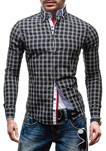 arco-baleno-5763-negro-xl-2b2-hombres-camisa-con-mangas-largas