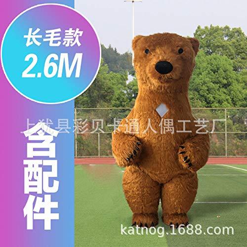 YYYDHW Giant Panda Cartoon Doll Kleidung Net Cartoon Doll Kostüm Puppe@Braunbär 2,6 m_Eine - China Doll Baby Kostüm