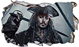 Wandsticker Pirates of The Caribbean Black Pearl Captain
