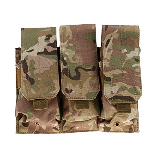 MagiDeal Molle Esterno Pals Tripla Borsa Sacchetto Tasca Utility Fondina Pouch Bag per Outdoor Trekking Escursionismo - #3 #4