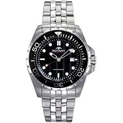 Rotary AGB00013/W/04 Gents White Case Stainless Steel Bracelet Watch