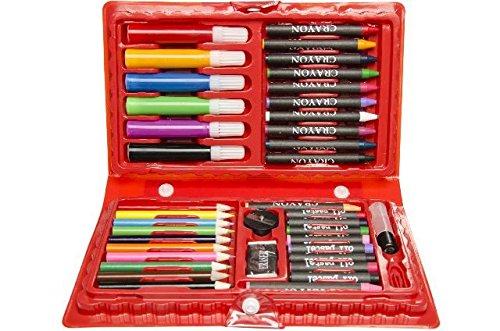 42-teiliger Malkoffer mit Wachsmaler, Öl-Stifte, Bunt- und Filzstifte uvm. Tolles Geschenk, Ideal...