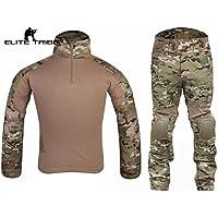 Elite Tribe Airsoft Caza táctico Militar para BDU Combate G2Uniforme Camiseta Pantalones Multicam