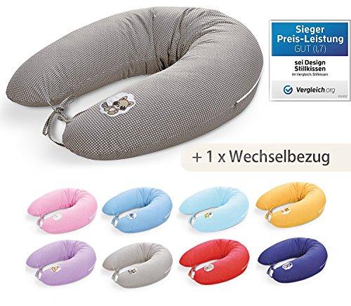 Sei Design Stillkissen mit EPS - Mikroperlen 170 + 1x Extra Stillkissenbezug