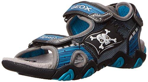 Geox J Sand Strike D, Sandales garçon Bleu (Blue/Silver)