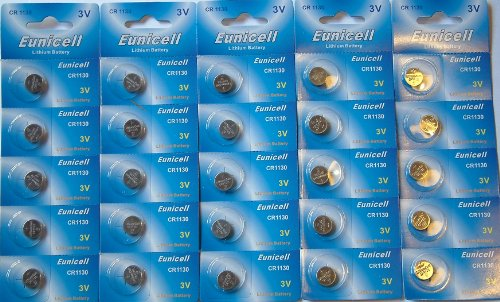 Eunicell Lithium-Batterie CR1130 (3V) 25 Stück