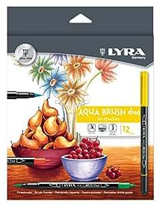 LYRA Aqua Dup Brush Painters, Set of 12 Pens, Assorted Colors (6521120)
