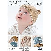 DMC Natura ganchillo Beanie gorro y patucos de bebé 4 capas 1aa2075bd16