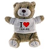 Multifanshop Kuscheltier Bär Classic I Love Frauke beige