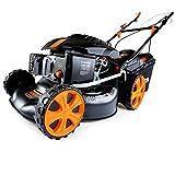 FUXTEC Benzin Rasenmäher FX-RM1860 mit 46 cm GT Selbstantrieb leistungsstarker 200 cc Motor Easy Clean 4in1 Motormäher Mulchen