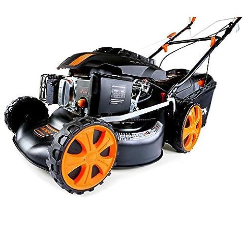 FUXTEC Benzin Rasenmäher FX-RM1860 mit 46 cm GT Selbstantrieb leistungsstarker 200 cc Motor Easy Clean 4in1 Motormäher