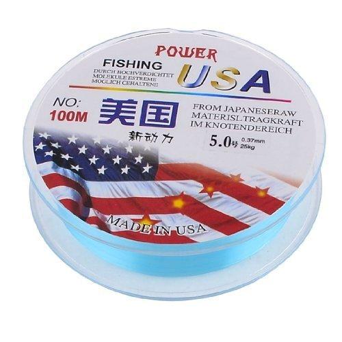 Support en plastique Cyan fil à pêche en Nylon 5 #55 kg 0,37 mm 25 kg 100 m