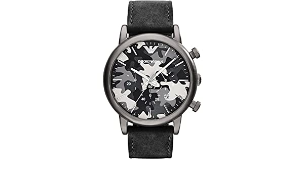 d404d402e9b Buy Emporio Armani AR1816 Chronograph Grey Camouflage Dial Men s Watch  Online at Low Prices in India - Amazon.in