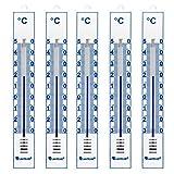 Lantelme 4086 Pack de 5 thermomètres analogiques intérieur/extérieur/Jardin - en Plastique -...