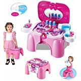Toys Bhoomi Beauty Kids Pretend Play Cosmetic + Jewellery Play Set & Chair