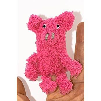 gehäkelte Fingerpuppe Schwein Schweinchen pink / Geschenk / Puppentheater