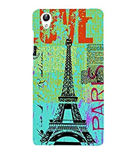 Vizagbeats Eiffel Tower Back Case Cover for Oppo F1 Plus