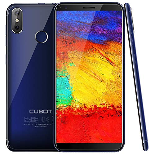 Cubot J3Pro 4G LTE Android Go Ultra dünn Dual SIM Smartphone ohne Vertrag, 5.5 Zoll (18:9) IPS Touch-Display, 16GB + 1GB, 13MP+2MP, Dual SIM, Quad-Core Prozessor, 1.5 GHz, Blau[ Cubot Offiziell ]