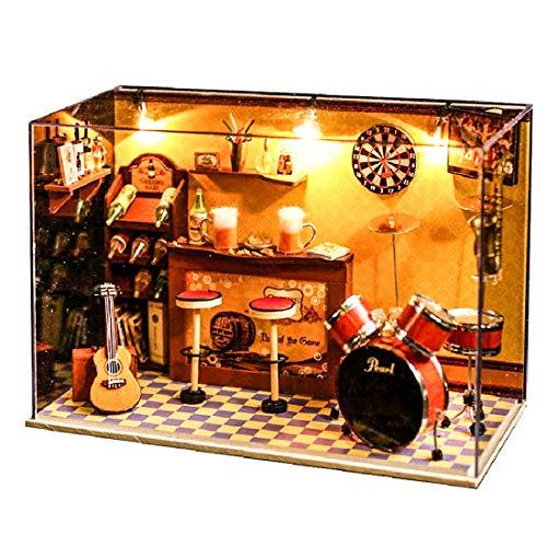 ppenhaus Bausatz,3D Montage Dollhouse Grüne Bar - Kreatives ()