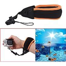 holaca flotante correa de muñeca banda accesorio tira, 15cm, soporte de correa de pecho hombro ajustable para GoPro Hero1/2/3/3+/4/4sesión impermeable cámara