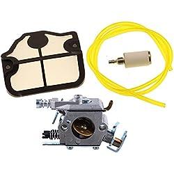 HIPA Carburateur avec Filtre à Air Tuyau d'Essence et Filtre à Essence pour Tronçonneuse Husqvarna 36 41 136 137 141 142