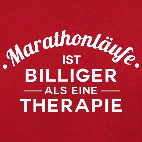 Marathonlaufe ist billiger als eine Therapie - Damen T-Shirt - 14 Farben Rot
