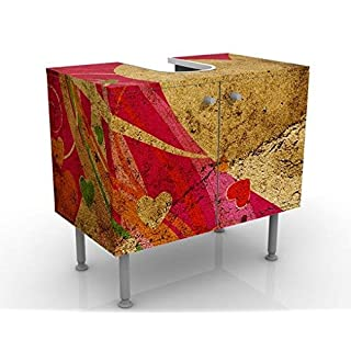 Apalis Design Vanity Lava Love 60x55x35cm, small, 60cm wide, adjustable, wash basin, vanity unit, washstand, bathroom cupboard, base unit, bathroom, narrow, flat