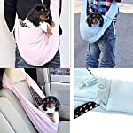 T Tocas Older, Little Cat Dog Puppy Hand-free Slings Carrier, Soft Reversible Shoulder Bag, Weight up to 5kg (Dark Blue) 8