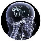 123t Slipmats - Tapis slipmat de DJ motif tête passée au rayons X (unité)