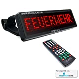 Mobiles LED Einsatzschild COBRA-S mit Akku frei programmierbar - Frontwarnsystem für die Sonnenblende (vorprogrammiert z.B. Feuerwehr im Einsatz, DRK, THW, etc.) (FEUERWEHR EINSATZ)