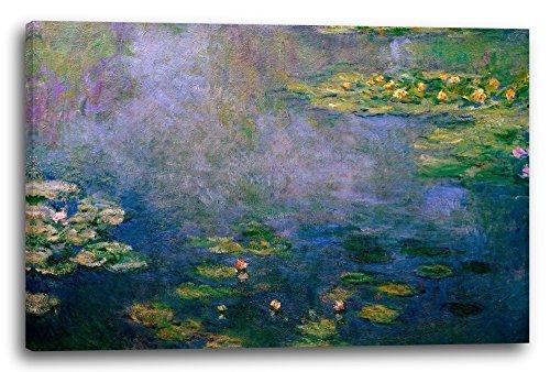 Claude Monet - Seerosen (1916/19), 100x70 cm, Leinwand auf Keilrahmen gespannt und fertig zum...