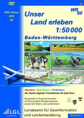 Baden-Württemberg - Unser Land erleben. Version 3. DVD-ROM: 1 : 50 000. Wandern, Rad fahren, Entdecken. Entdecken. Die ideale digitale Freizeitkarte für jede Tour