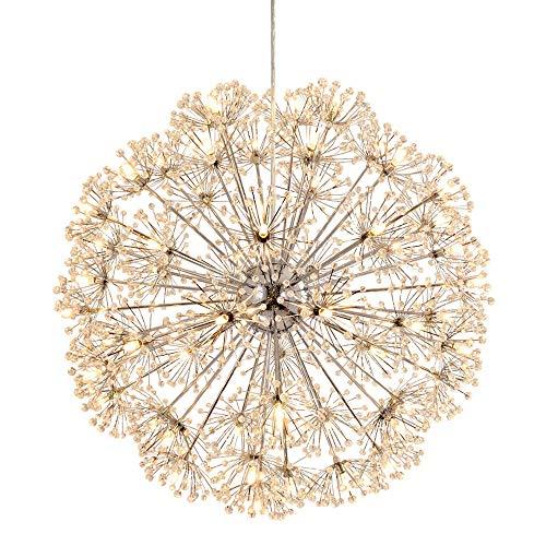 MinMin Moderner Löwenzahn - Led Crystal Elegant Chandelier - Home Decor Deckenleuchte 35cm / 50cm / 60cm Moderner dekorativer Kronleuchter (Size : D60CM) (Elegant Home Decor)