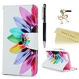 Huawei P10 Hülle Mavis's Diary Gemalt Bunt Blütenblatt