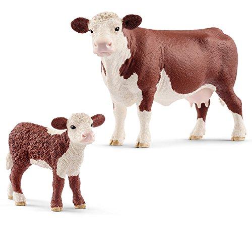 Schleich Farm Life Set Hereford Kuh mit Kalb 13867 13868 Spielfiguren Set