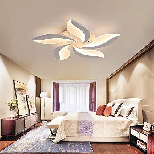 YHY Moderne runde Blätter Design Kronleuchter Blume Deckenleuchten Weißer Lampenschirm Hänge Pendelleuchten für Esszimmer Küche Wohnzimmer Lampe Schlafzimmer, 5 Light -