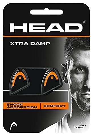 Head Xtra Damp Lot de 2 antivibrateurs de raquette Noir et blanc orange