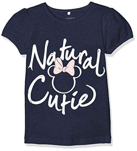 Ss-stretch-shirt (NAME IT Baby - Mädchen NITMINNIE SKY SS TOP MINI WDI T-Shirt,,per pack Blau (Dress Blues Dress Blues),86)