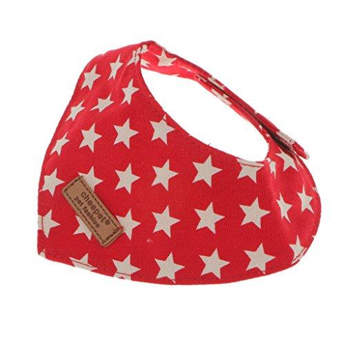 Sharplace 1 Stück Ersatz Gepunktet Muster Haustier Halsband, Zubehör für Hunde Katze und Welpen - Große Wählen - Rot, S
